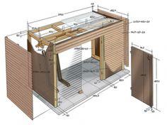 Bike shed_sketch_selber.jpg × 967 pixels - Bike shed_sketch_selber. Backyard Sheds, Outdoor Sheds, Bin Shed, Bike Storage Solutions, Modern Shed, Shed Homes, Tool Sheds, Garden Office, Shed Storage