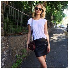 FWSS t-shirt / Zara skirt / Chloé bag