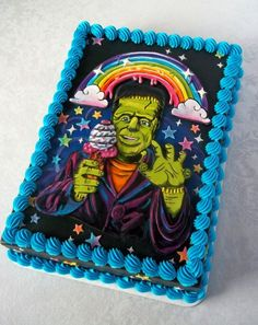 Lisa Frankenstein Threadless cake by Corrie Rasmussen