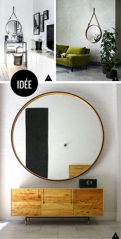 Inspiration et DIY : miroirs ronds et cerclés