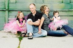 Outfits for family portraits-  Adults wear neutrals and kids in vibrant colors.