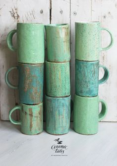 click the image or link for more info. click the image or link for more info. Pottery Mugs, Ceramic Pottery, Pottery Art, Ceramics Projects, Clay Projects, Ceramic Cups, Ceramic Art, Keramik Design, Green Mugs