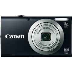 Canon PowerShot A2300 IS 16.0 MP Digital Camera with 5x Digital Image Stabilized Zoom 28mm Wide-Angle Lens with 720p HD Video Recording (Black)  Price: $72.99