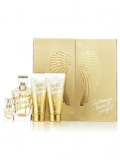 Victoria's Secret Angel Gold 4 Piece Perfume DELUXE GIFT SET by Victoria's Secret,
