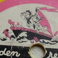 I adore the retro graphics on these sweet little golden records!