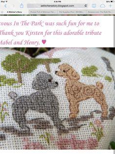 Poodle/ needlepoint/ cross stitch