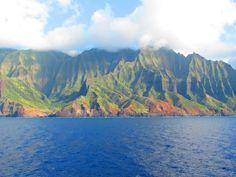 the stunning Na Pali coast, Kauai from balcony Pride of America