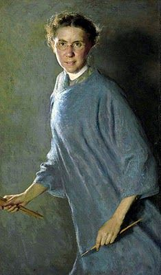 1881 Margaret Foster Richardson (American artist, 1881-1945) Self Portrait. I love how modern this 19th century portrait looks