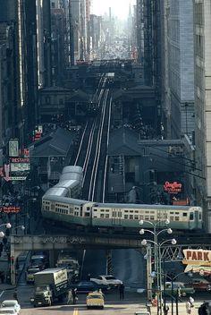 "The ""EL"", Chicago,Illinois"