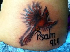 Cardinal- Tattoo Artist Olivia Alden River City Tattoo, Cardinal Tattoos, I Tattoo, Don't Care, Tatoos, Tattoo Artists, Tatting, Body Art, Tattoo Ideas
