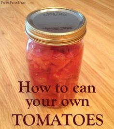 If you are interested in canning your own food, tomatoes are a great place to start! Super easy and SUPER delicious.
