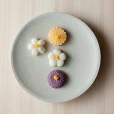 Japanese sweets made by silicon mold