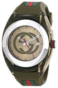 Gucci SYNC XXL YA137106 Khaki Green Swiss Quartz Watch #best #sellers #luxury #watches