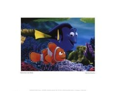 "Disney's Finding Nemo Movie Poster Print ""Searching For Nemo"" 11x14 NWT"