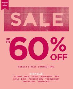 60% OFF Online & In-Stores.