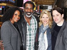 Audra McDonald and Norm Lewis of PORGY AND BESS with Kelli O'Hara and Matthew Broderick of NICE WORK IF YOU CAN GET IT