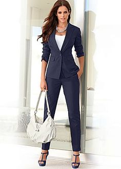 Formal Pant Suits for Women Business Suits for Work Wear Sets Gray ...