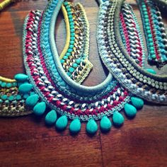 #DIY !!! #statement necklace #handmade #fashion