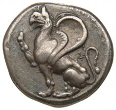 Statere - argento - Abdera, Tracia a. Berlin Museum, Foreign Coins, Coin Design, Coin Art, Griffins, Gold And Silver Coins, Antique Coins, Rare Coins, Ancient Artifacts