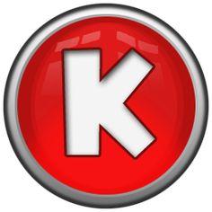 letter K icon...