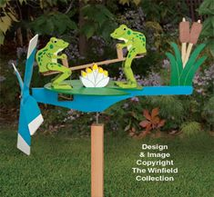 Teetering Frogs Whirligig Pattern
