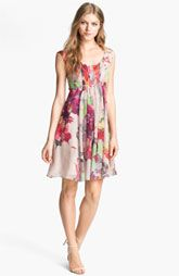 Ted Baker London 'Treasured Orchid' Print A-Line Dress