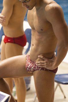 jockbrad:  Swimmers, wrestlers, football players / singlets, jockstraps, speedos and spandex!http://jockbrad.tumblr.com/