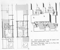 Adolf Loos | Siedlung Heuberg | Viena, Austria | 1921 Austria, Floor Plans, Vienna, Human Settlement, Floor Plan Drawing, House Floor Plans