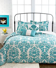 Chateau 5 Piece Full/Queen Comforter Set: comforter/(2) shams/(2) decorativepillows teal/ivory 220.00 10%off thru 1/20