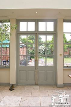 Georgian French Doors                   ...  #frenchdoorideas #frenchdoormakeover French Door