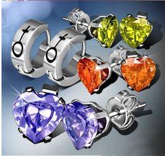 farebne nausnice Piercing, Cufflinks, Accessories, Piercings, Wedding Cufflinks, Body Piercings, Jewelry Accessories