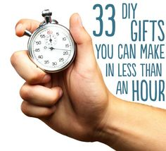 33 DIY Gifts You Can Make In Less Than An Hour