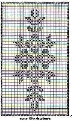 This Pin was discovered by Seb Crochet Lace Edging, Crochet Chart, Crochet Doilies, Crochet Stitches, Knit Crochet, Crochet Patterns, Double Crochet, Cross Stitch Borders, Cross Stitching