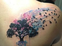 watercolor tattoo | Marcus Lund I Love Watercolor Tattoos | Ruth Tattoo Ideas