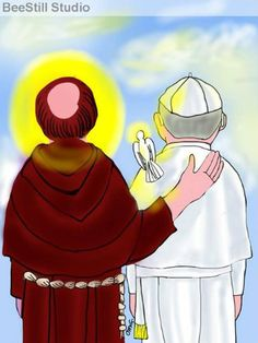A Saint for All Ages: Saint Francis of Assisi (and Pope Francis) Catholic School, Catholic Art, Catholic Saints, Roman Catholic, Religious Art, Papa Francisco Frases, San Francisco, Francis I, Francis Of Assisi