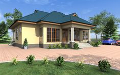 Brick Laying, Drummond House Plans, Pool Installation, Monster House Plans, Bungalow House Design, Roof Plan, 3 Bedroom House, Furniture Layout, Home Builders