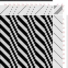 draft image: New Draft, Pat Stewart, Weaving Designs, Weaving Projects, Weaving Patterns, Knitting Designs, Knitting Tutorials, Stitch Patterns, Knitting Charts, Loom Knitting, Free Knitting
