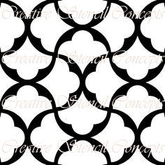 Seamless Arabic Lattice Stencil MULTIPLE SIZES AVAILABLE on Industry Standard 7 Mil Blue Mylar Design 52914823