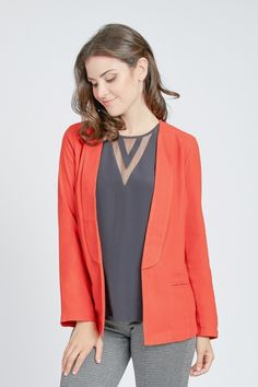 Crepe Tuxedo Blazer by Cupcakes and Cashmere at Le Tote