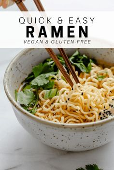 This quick and easy vegan ramen needs to be your go-to for a healthy noodle dish!