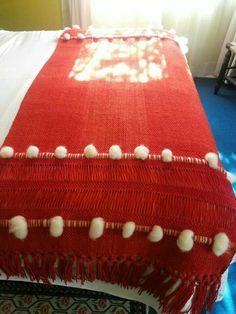Piecera Bed Runner, Ideas Hogar, Loom, Ottoman, Weaving, Holiday Decor, Crochet, Pattern, Crafts