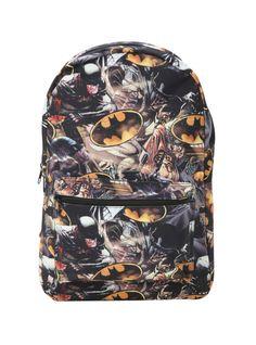 DC Comics Batman Action Print Backpack | Hot Topic I NEED THIS!!