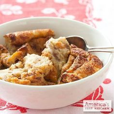 We've lightened up our Bread Pudding recipe for a healthful morning.