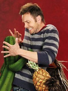 Joel McHale to demonstrate the word 'prickly' on 'Sesame Street.' How perfect is that? | EW.com