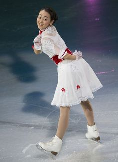 Mao Asada of Japan skates in the 2013 World Figure Skating Championships Gala in London, Ontario, on March 17, 2013.