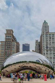 """Cloud Gate, also called """"The Bean""""   Best Views of Chicago"""