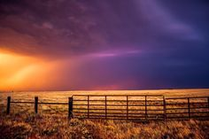 Western Sky Photography Art Print - Landscape Picture of Brilliant Colors During Summer Storm Rustic Country West Photograph for Home or Business 5x7 to 30x45. Title: Western Front. The sky is painted in brilliant color in this photograph that is perfect for home decoration and a great conversation piece. This listing is for a professional quality print on archival lustre photo paper. It includes an information card with details about the print including title, location and story making…