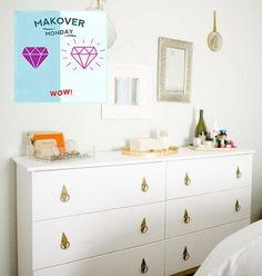 Stylish and chic furniture on an Ikea budget, right? Well, I'm here to show you how you can turn a raw wood Ikea dresser into something fabulous and expensive!
