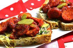 R'n'G Kitchen: Zapiekanki z duszoną cebulą i kiełbasą