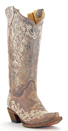 Womens Corral Boots Brown/Bone Wedding Embroidered Western Leather Cowboy Boots #Corral #CowboyWestern